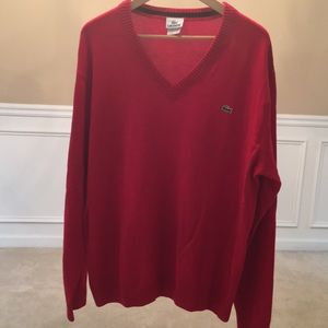 Men's Lacoste Sweater - Power Red! Size 6 = XL